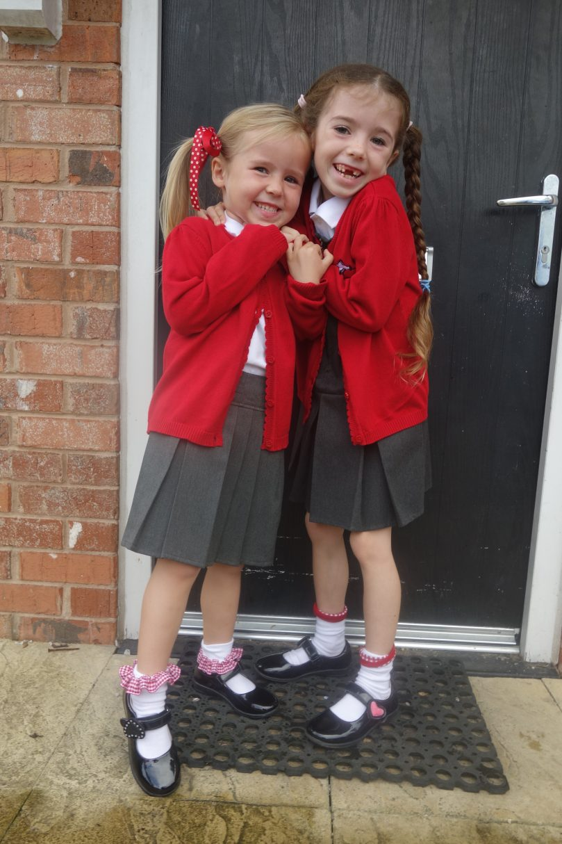 Meme and Harri starting school