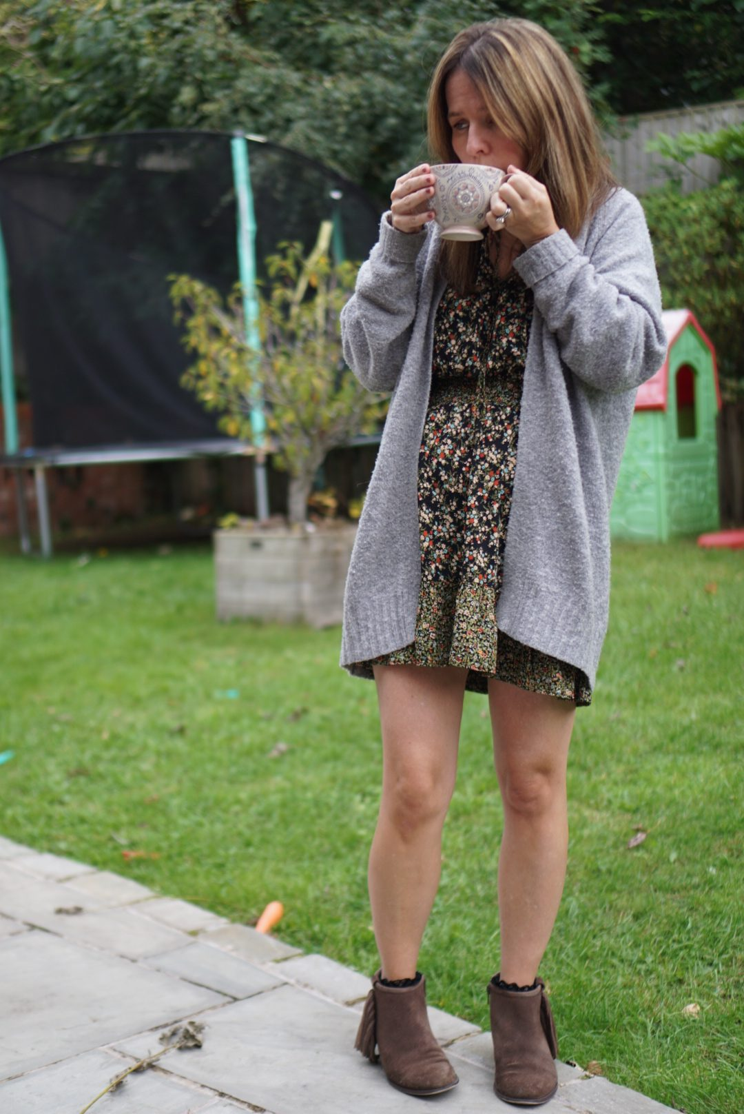 Zara Dress and cosy cardi