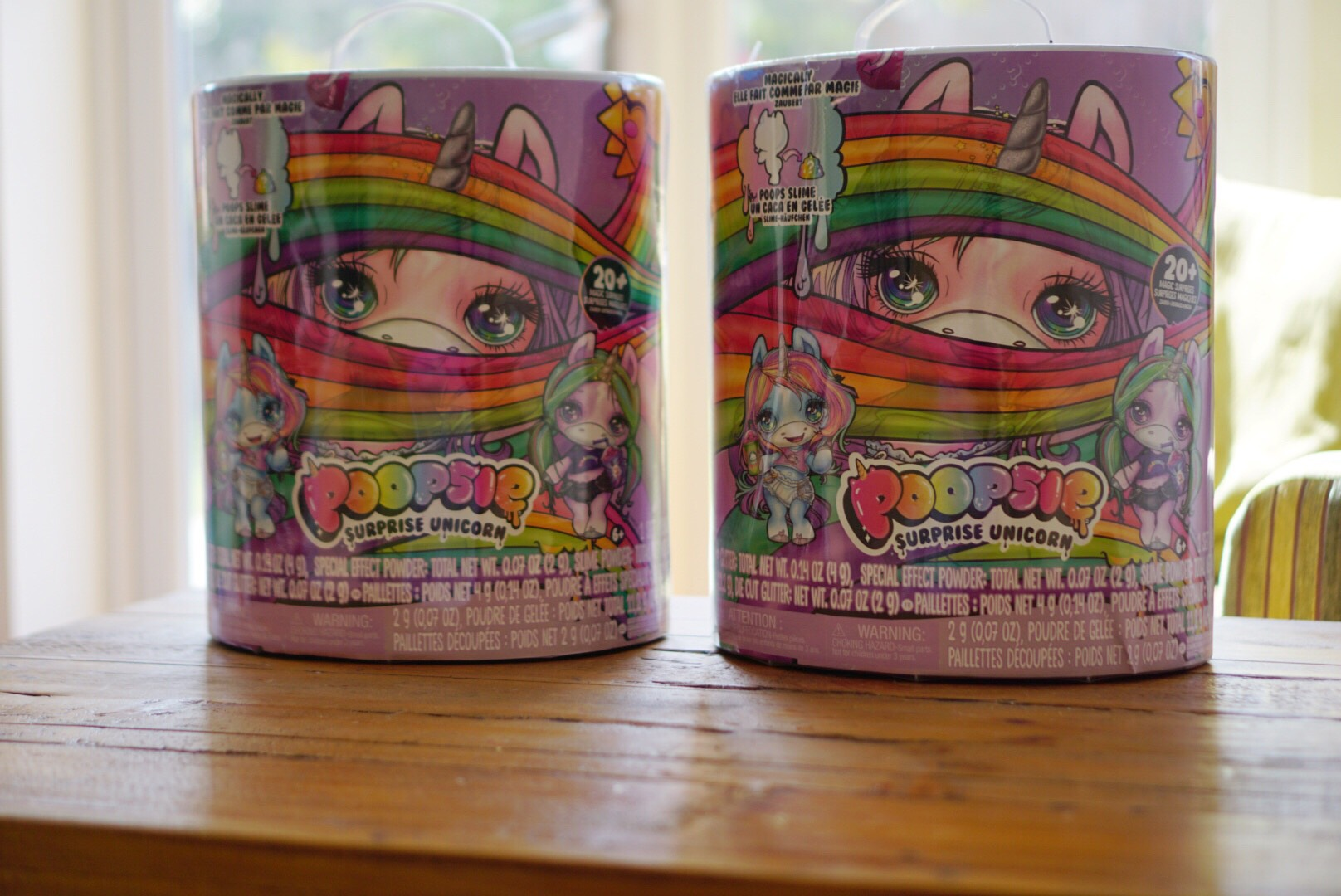 2 boxes of toy unicorn poopsie surprise