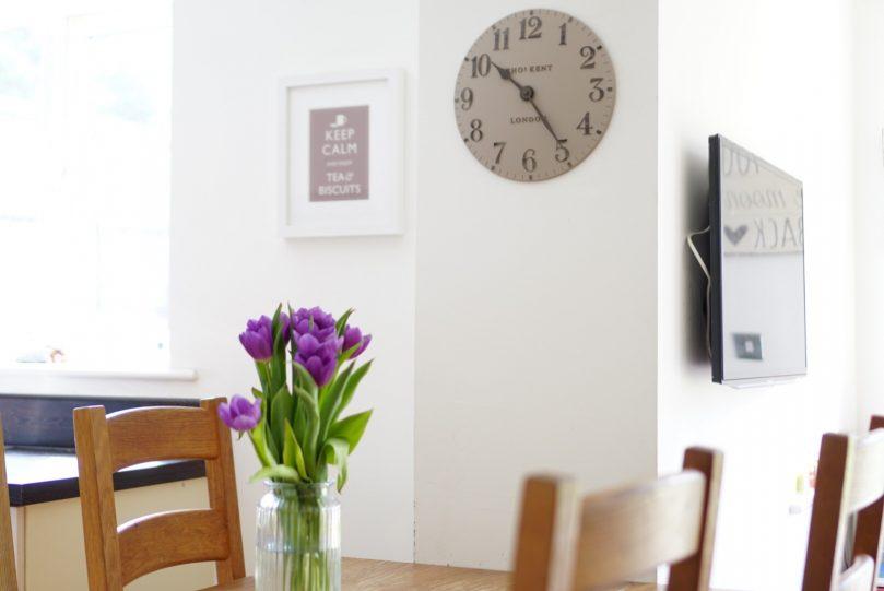 Thomas Kent clock in living room