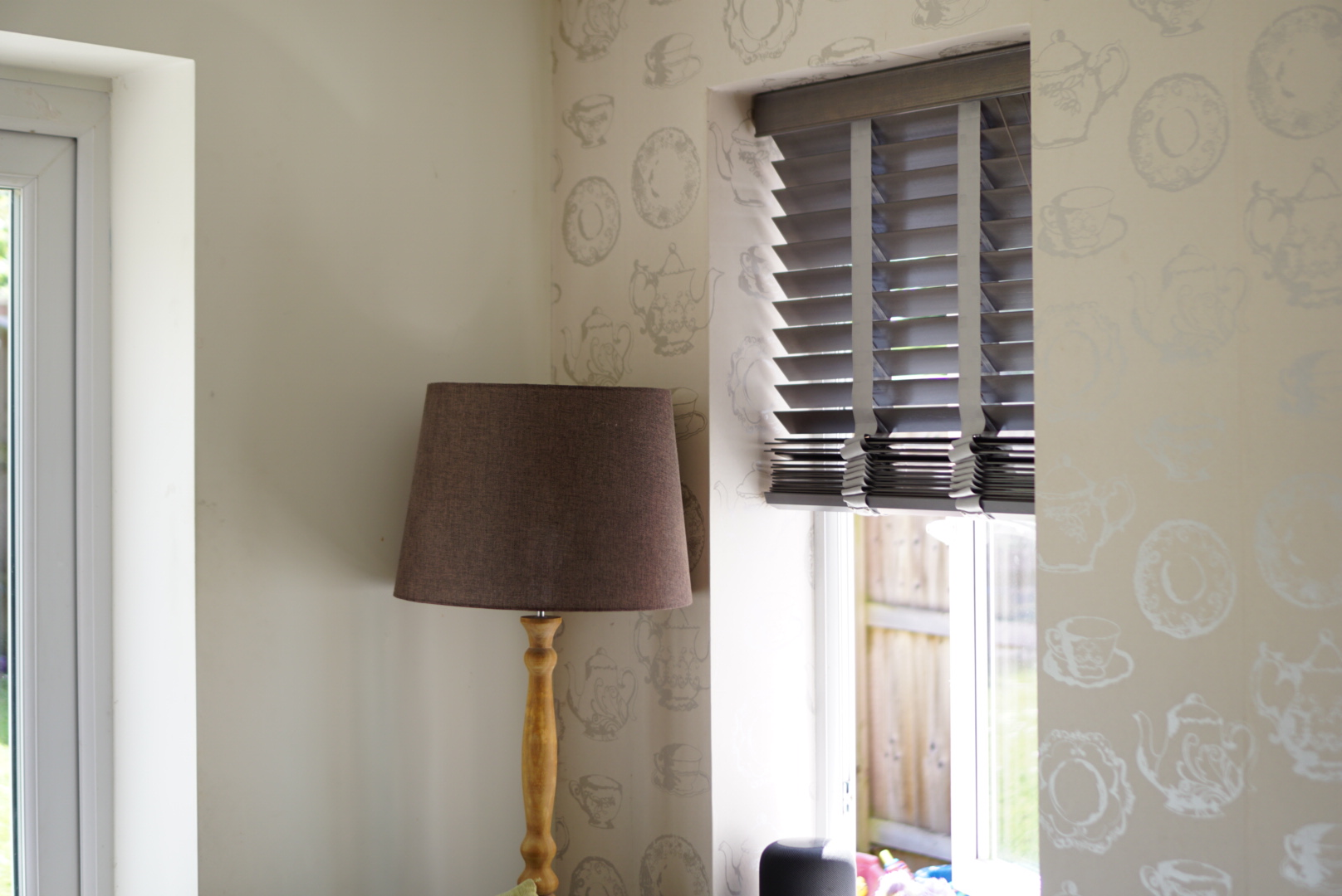 Picture of blinds in a home