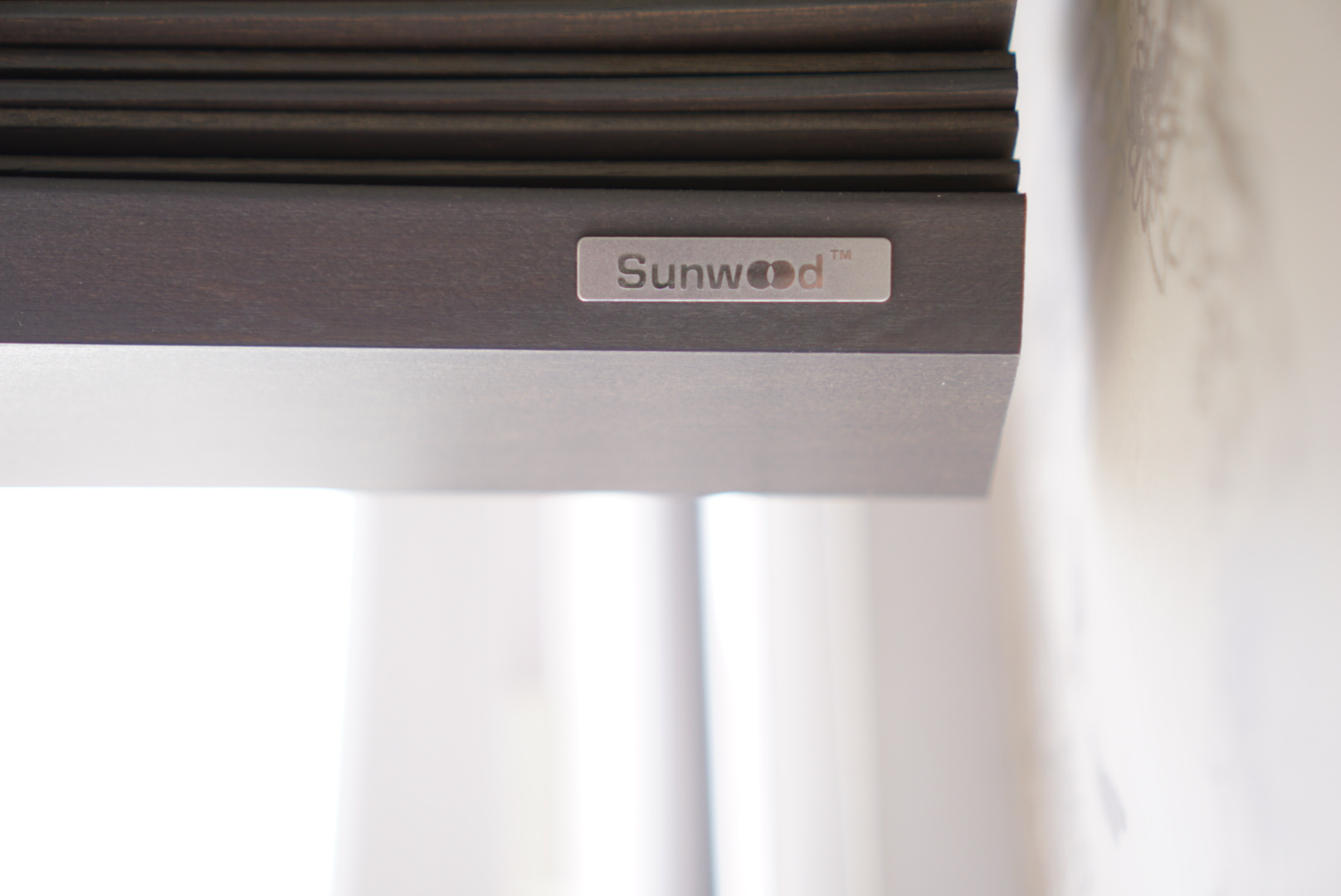 close up picture of the make of some blinds