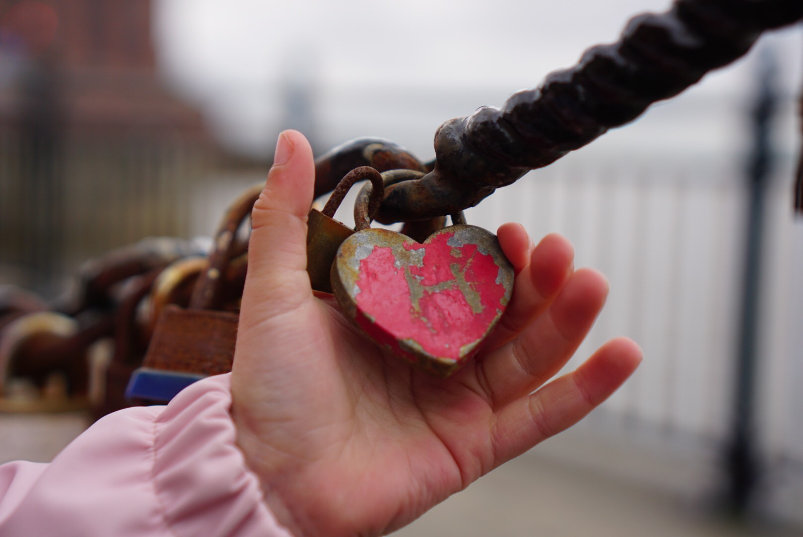 Love Lock engraved with a H