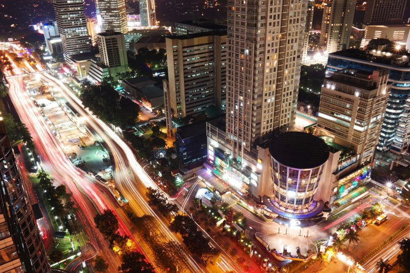 Indonesia in the night time