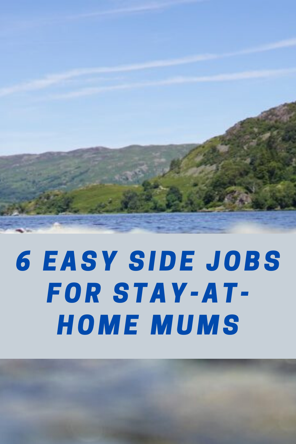 Side jobs for stay at home mums