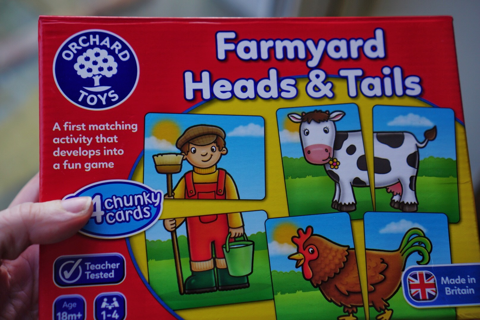 Learning games Farmyard Heads and Tails Orchard Toys