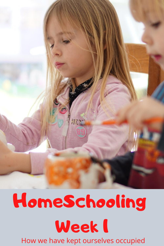 Homeschooling week 1