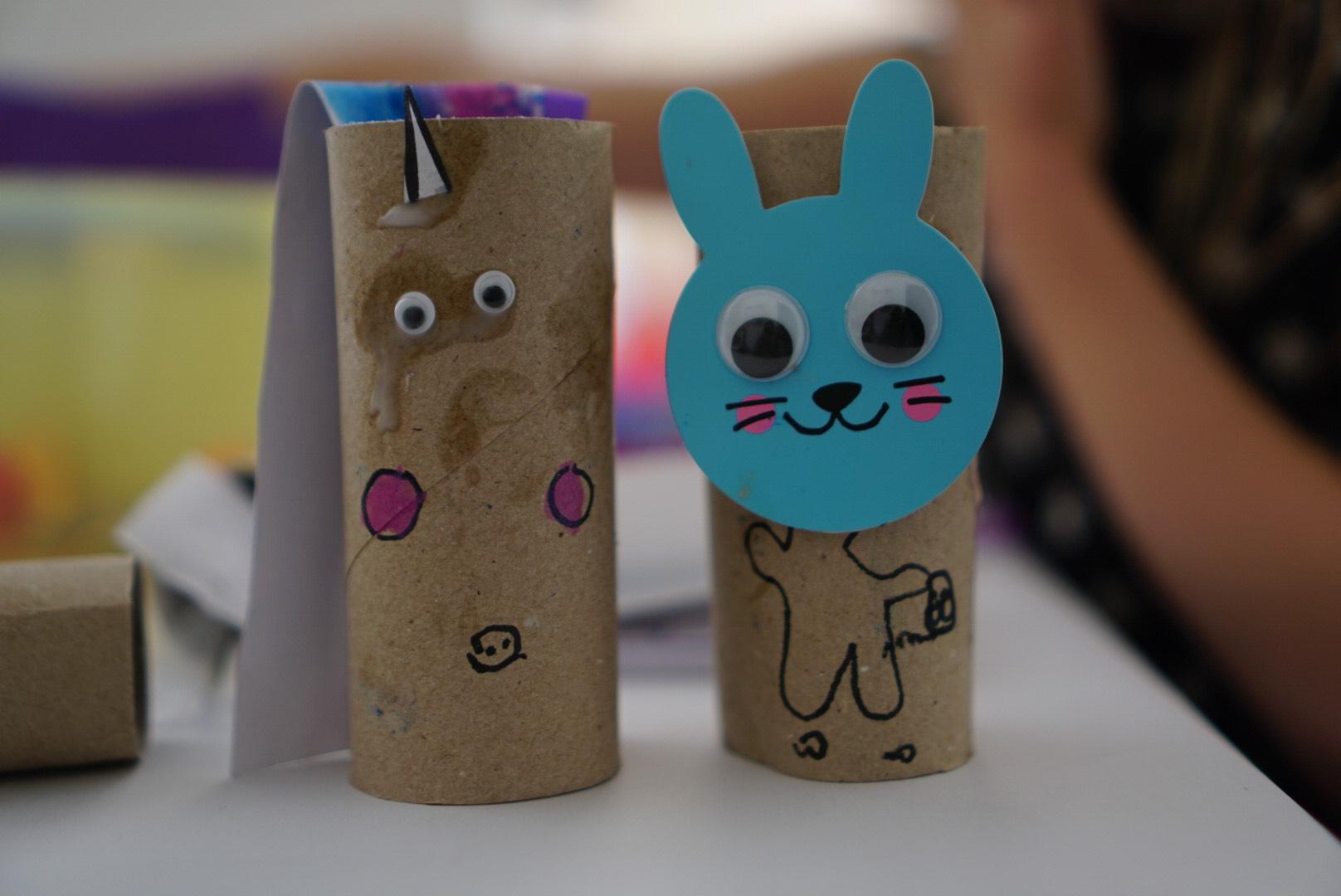Homeschooling week 3 crafts with toilet rolls