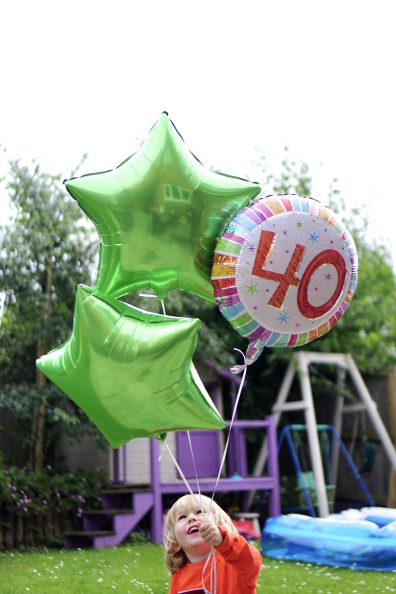 Helium balloons and gifts from Moonpig