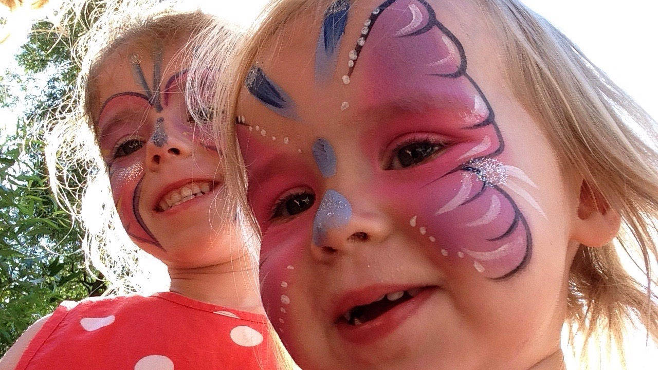Meme and Harri with face paint